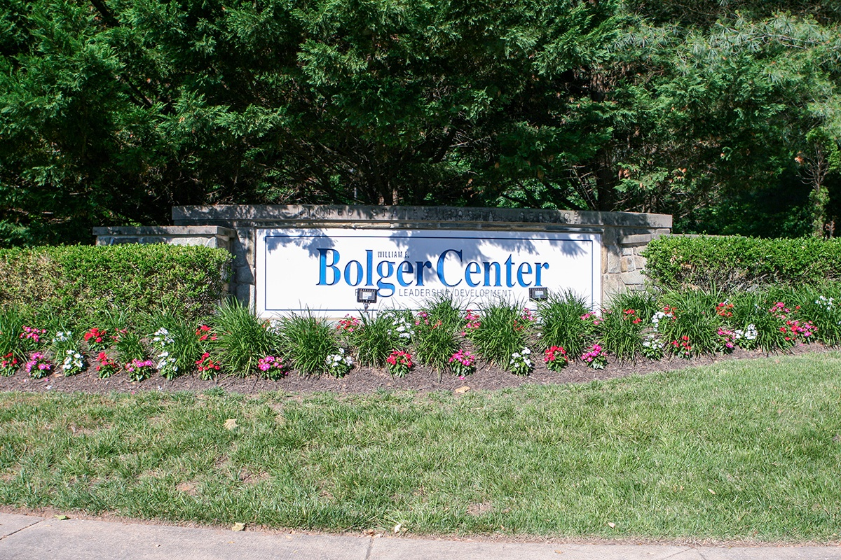 Bolger Center sign