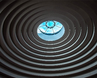 The skylight dome above the atrium of the National Museum of the American Indian
