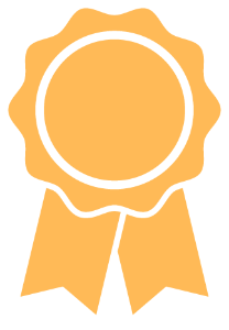 Icon of a gold rosette award